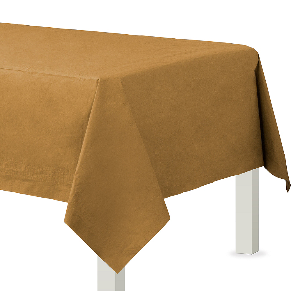Gold Paper Table Cover Image #1