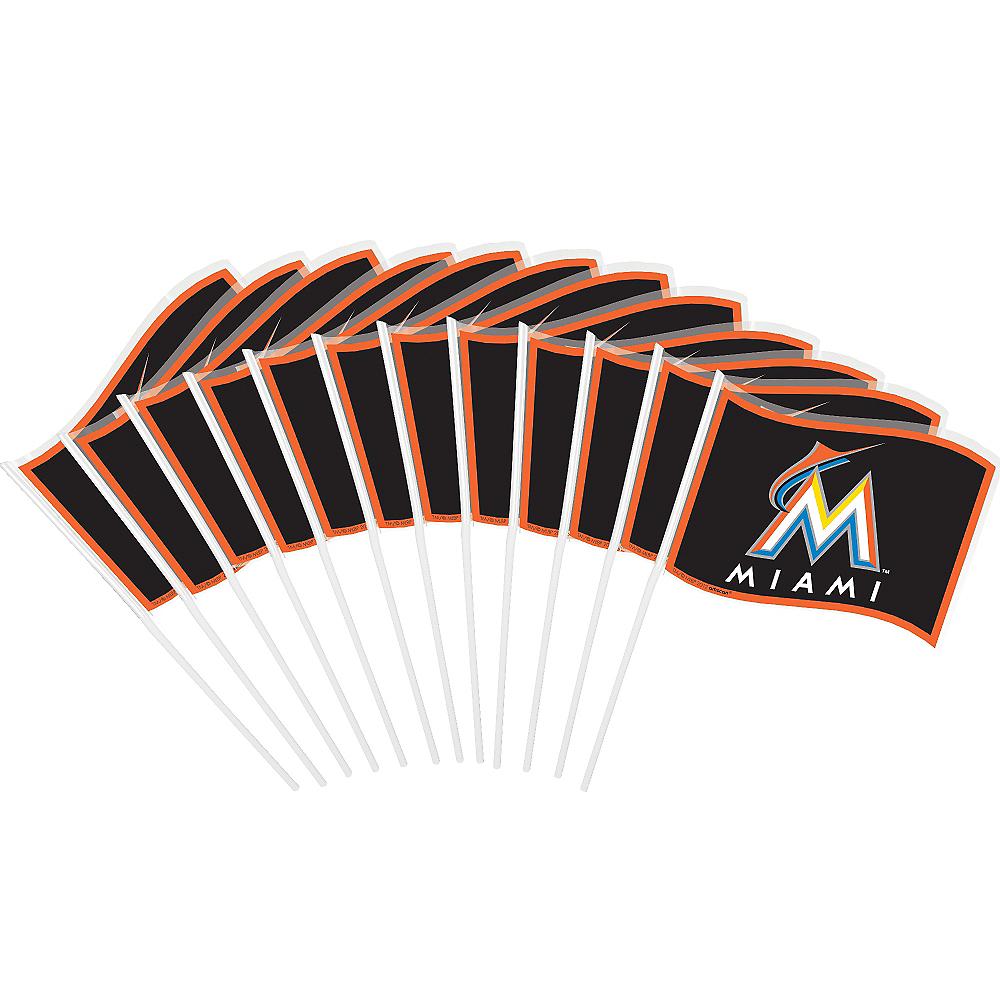 Miami Marlins Mini Flags 12ct Image #1