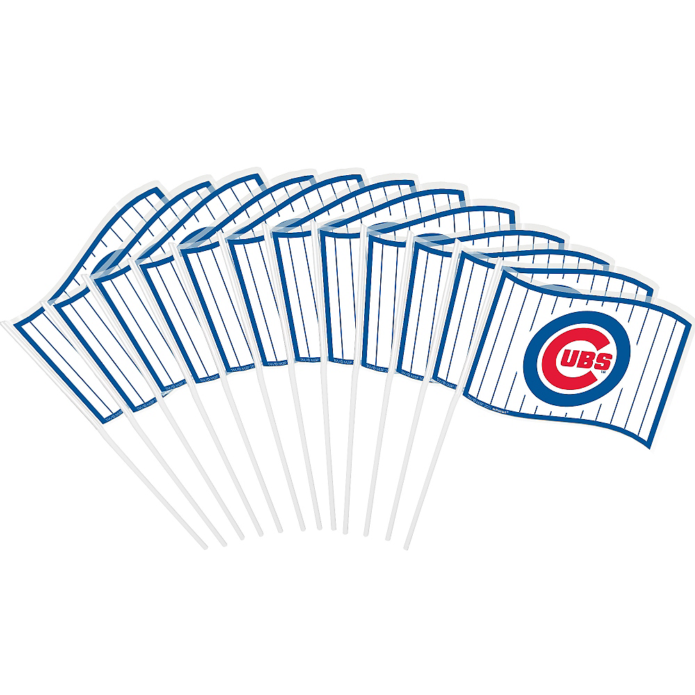 Chicago Cubs Mini Flags 12ct Image #1
