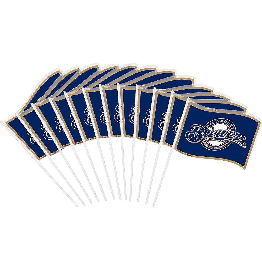 Milwaukee Brewers Mini Flags 12ct Image #1