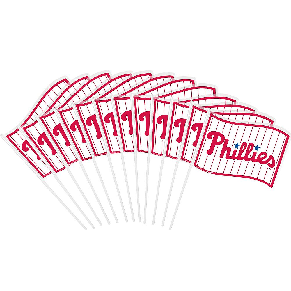 Philadelphia Phillies Mini Flags 12ct Image #1