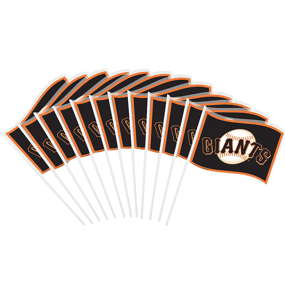 Nav Item for San Francisco Giants Mini Flags 12ct Image #1