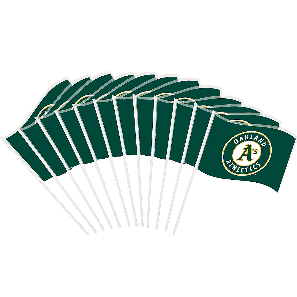 Oakland Athletics Mini Flags 12ct Image #1