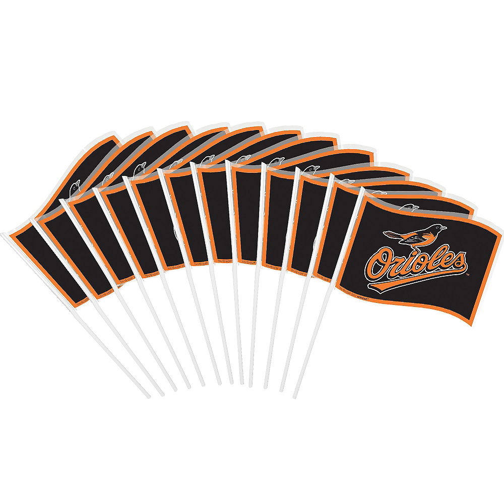 Nav Item for Baltimore Orioles Mini Flags 12ct Image #1