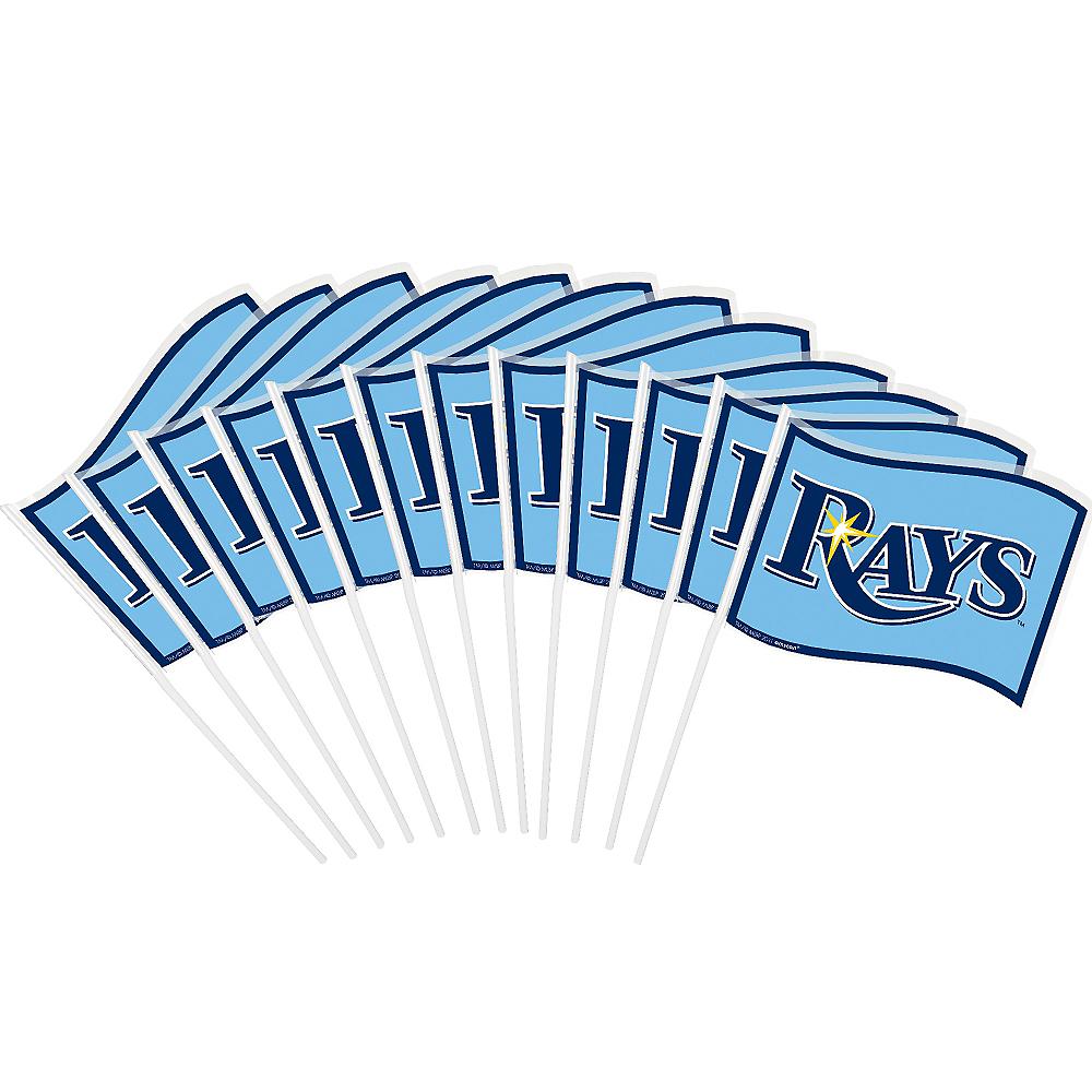 Tampa Bay Rays Mini Flags 12ct Image #1