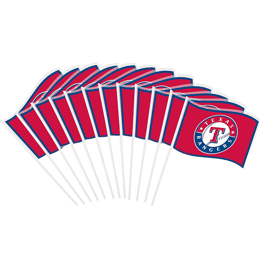 Texas Rangers Mini Flags 12ct Image #1