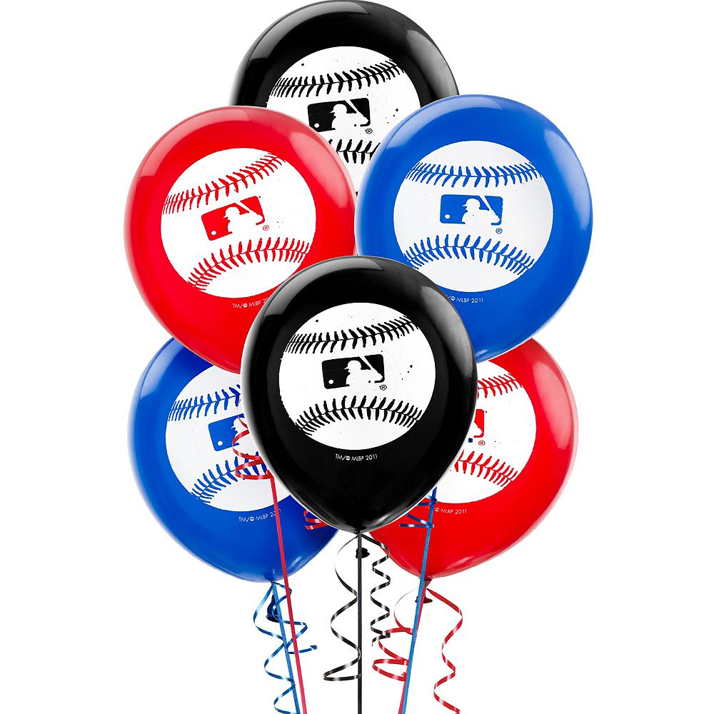 MLB Baseball Balloons 6ct Image #1