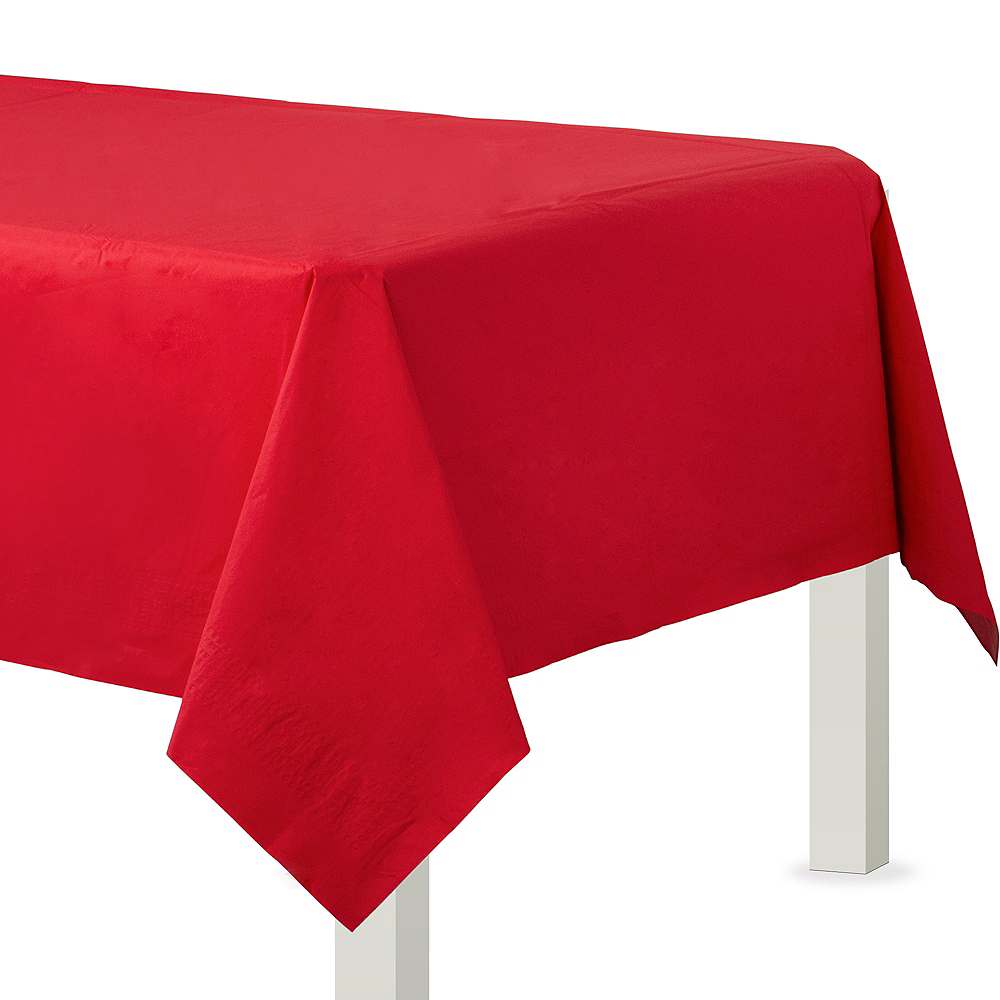 Red Paper Table Cover Image #1