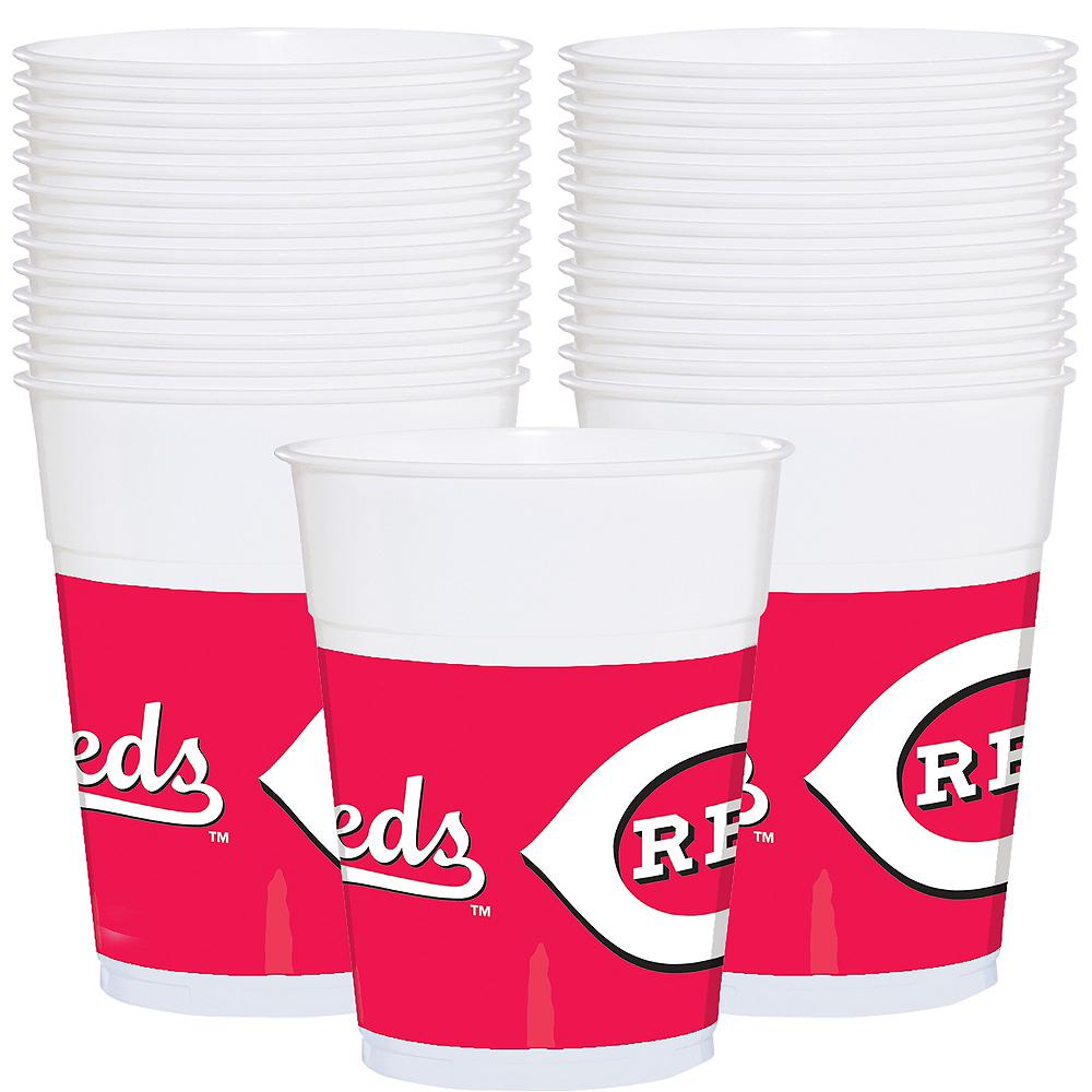Cincinnati Reds Plastic Cups 25ct Image #1