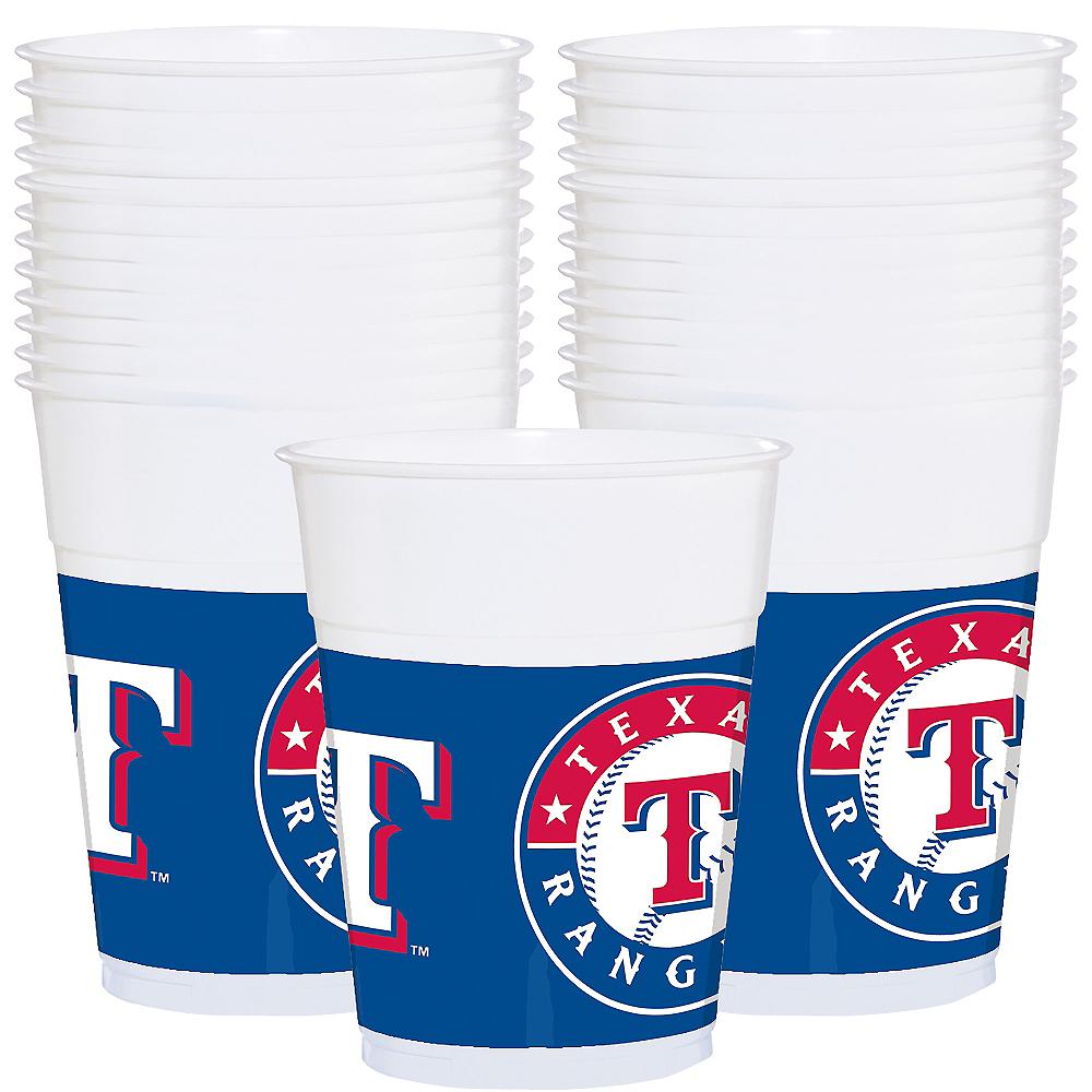 Texas Rangers Plastic Cups 25ct Image #1