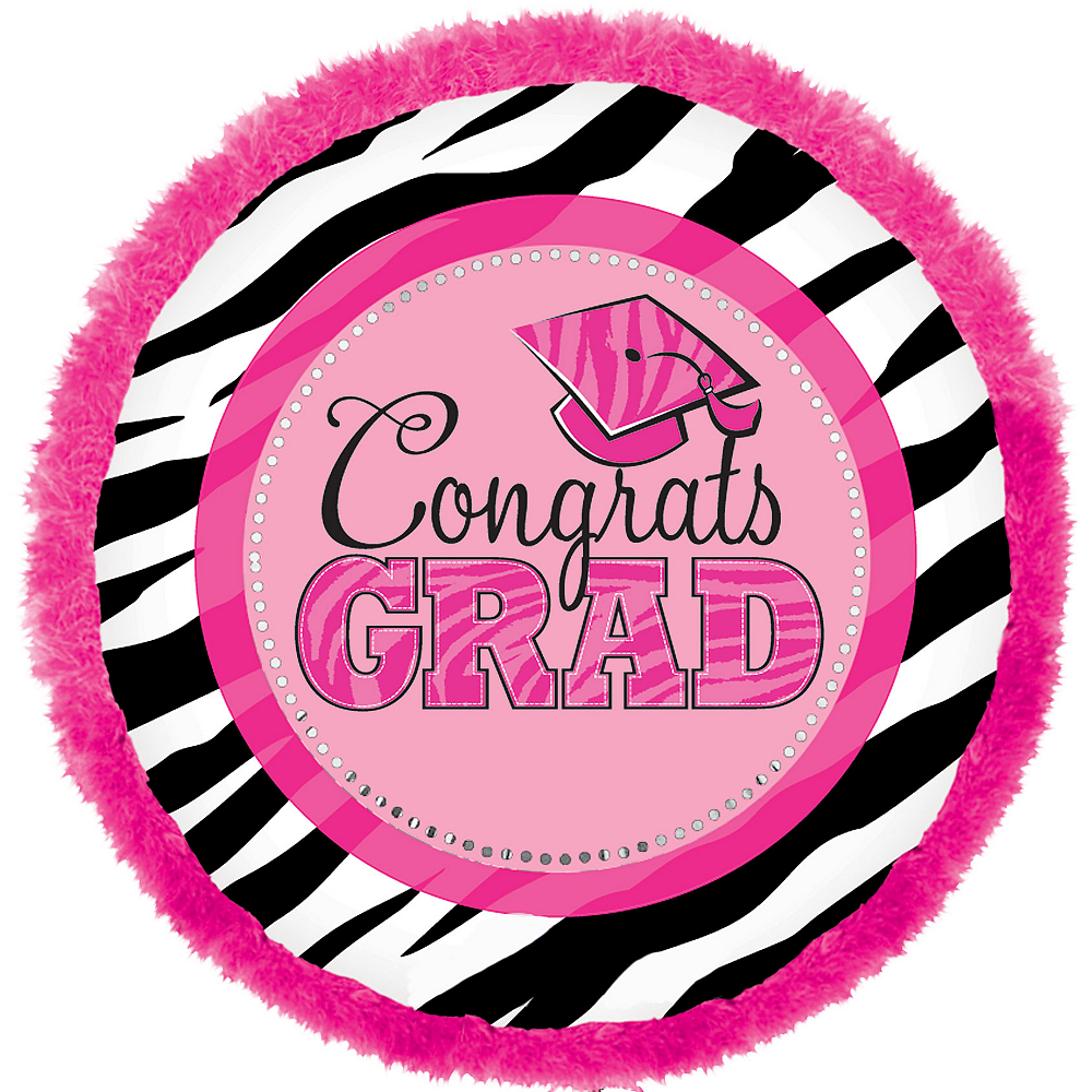 Nav Item for Graduation Balloon - Boa Zebra Image #1