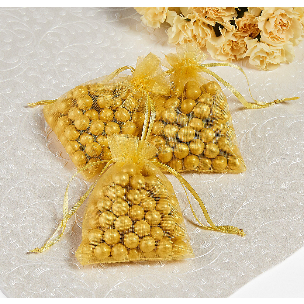 Gold Organza Favor Bags