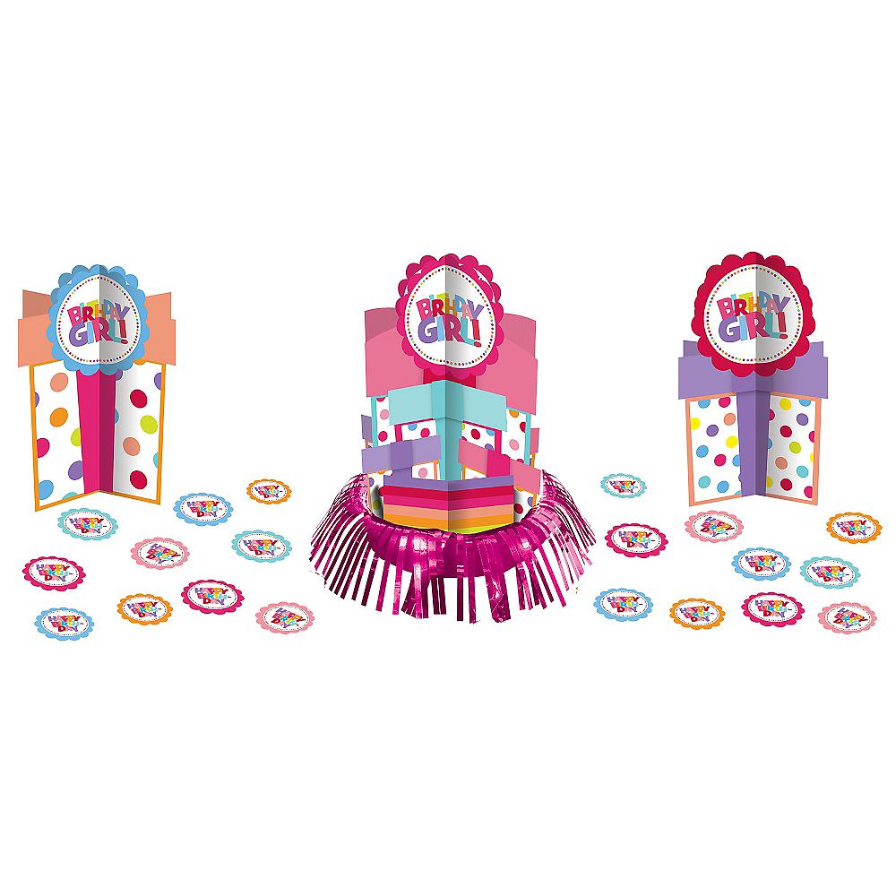 Girl Birthday Centerpiece Kit 23pc Image #1
