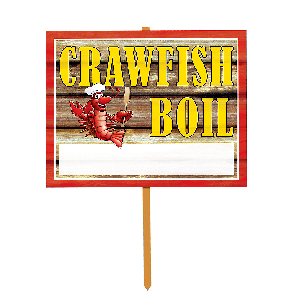 Crawfish Boil Yard Sign Image #1