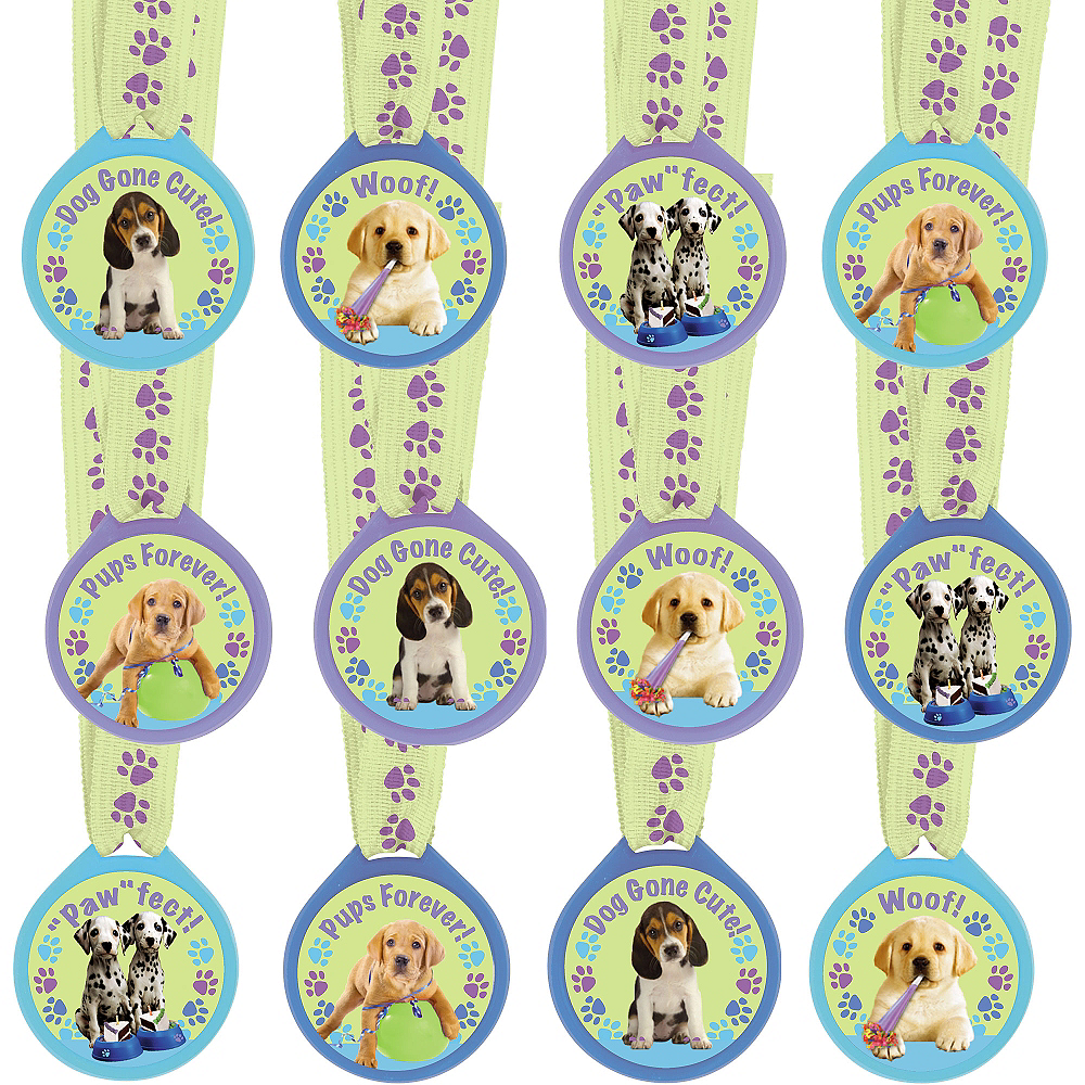 Party Pups Award Medals 12ct Image #1