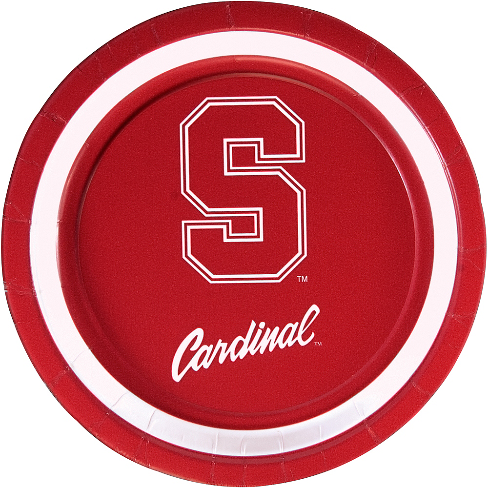 Stanford Cardinal Lunch Plates 10ct Image #1