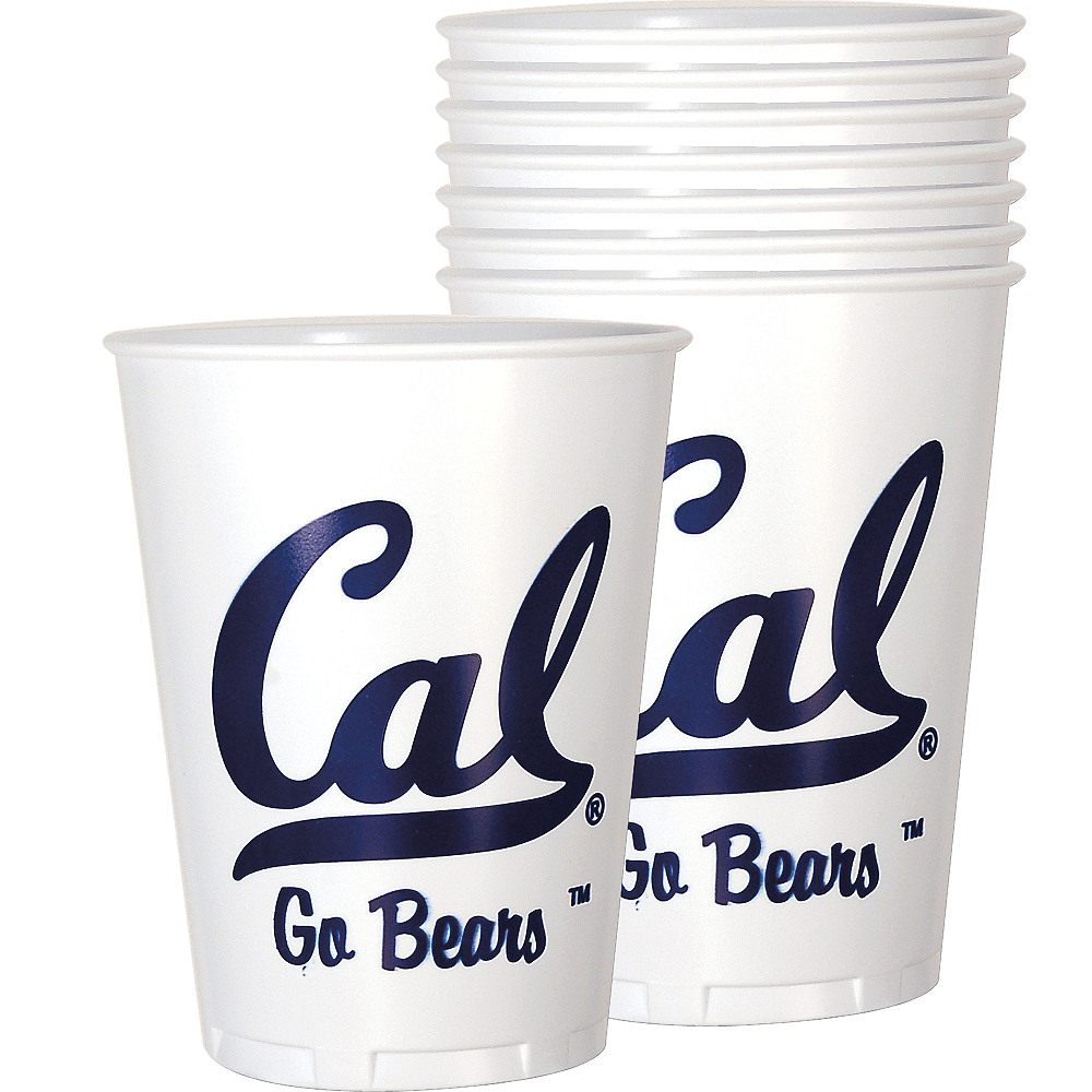 Nav Item for Cal Bears Plastic Cups 8ct Image #1