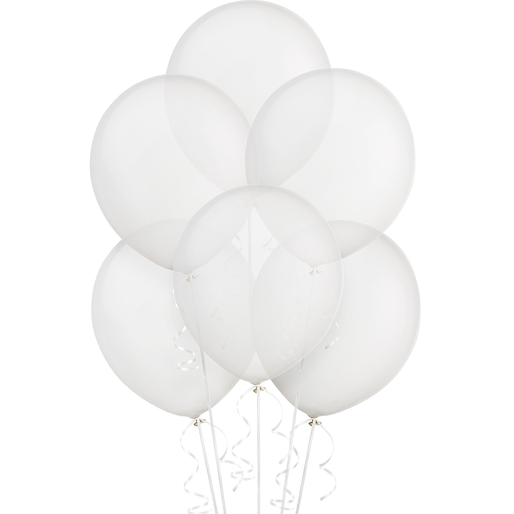 Clear Balloons 72ct Image #1