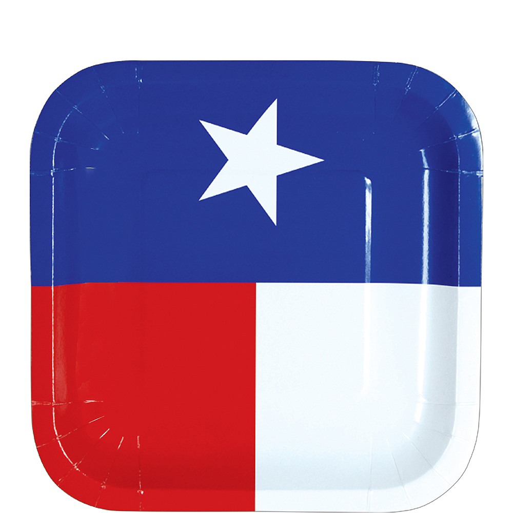 Texas Flag Dessert Plates 8ct Image #1