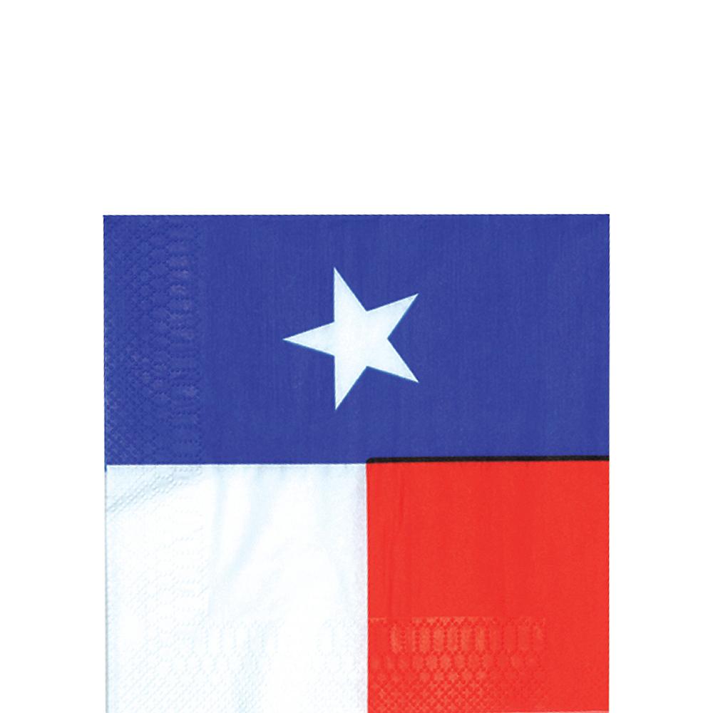 Texas Flag Beverage Napkins 16ct Image #1