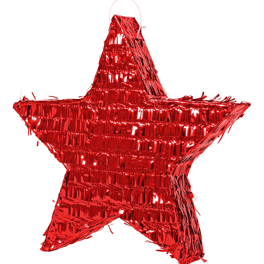 Foil Red Star Pinata Image #1