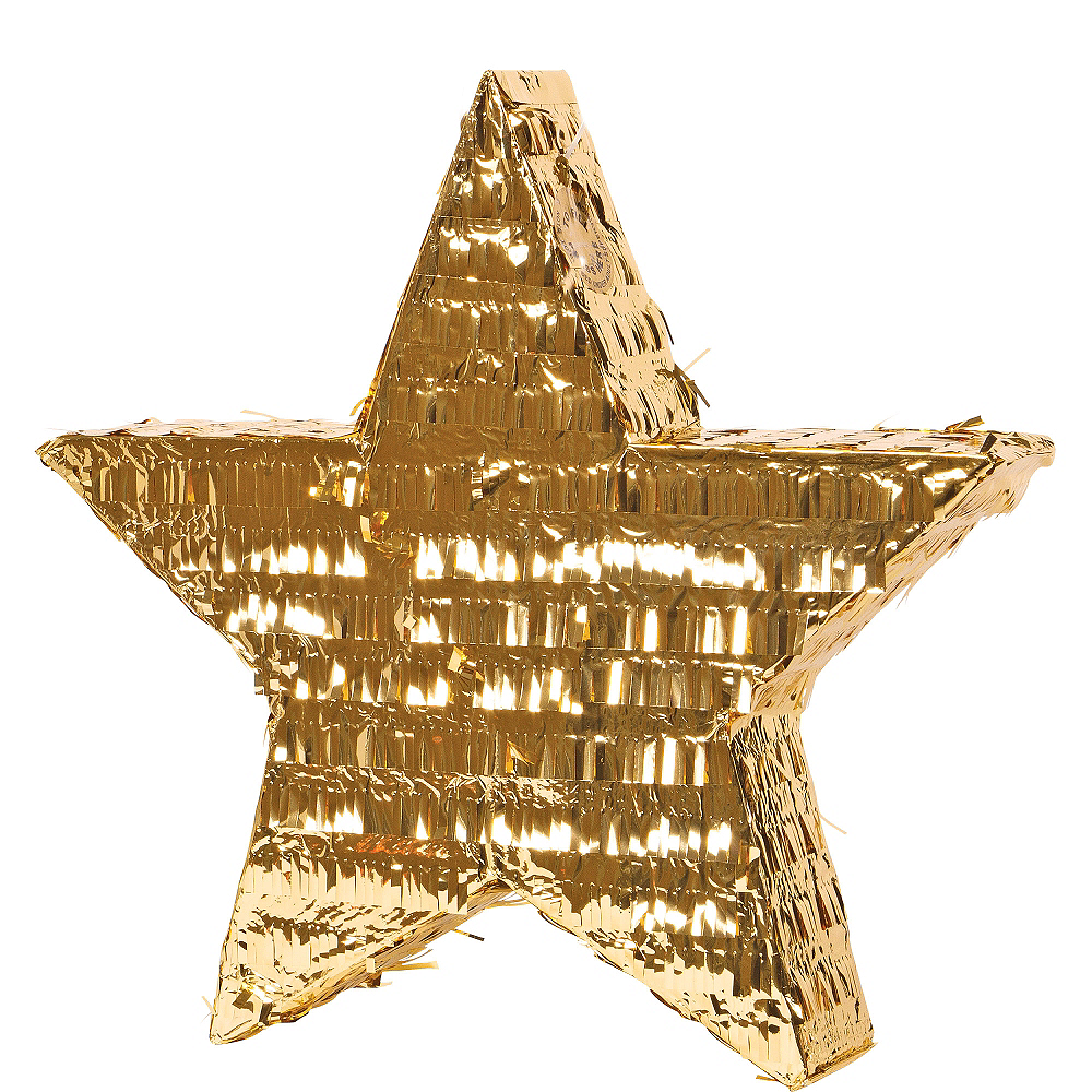 Foil Gold Star Pinata Image #1
