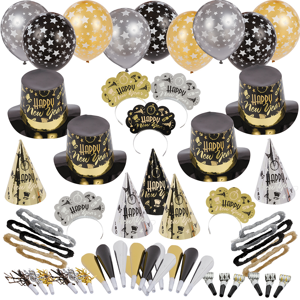 Kit For 100 - Black Tie Affair New Year's Party Kit Image #1