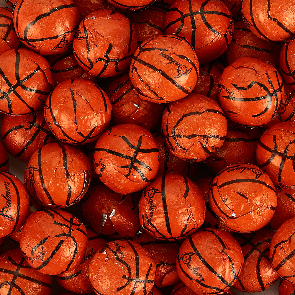 Palmer Chocolate Basketballs 450ct Party City