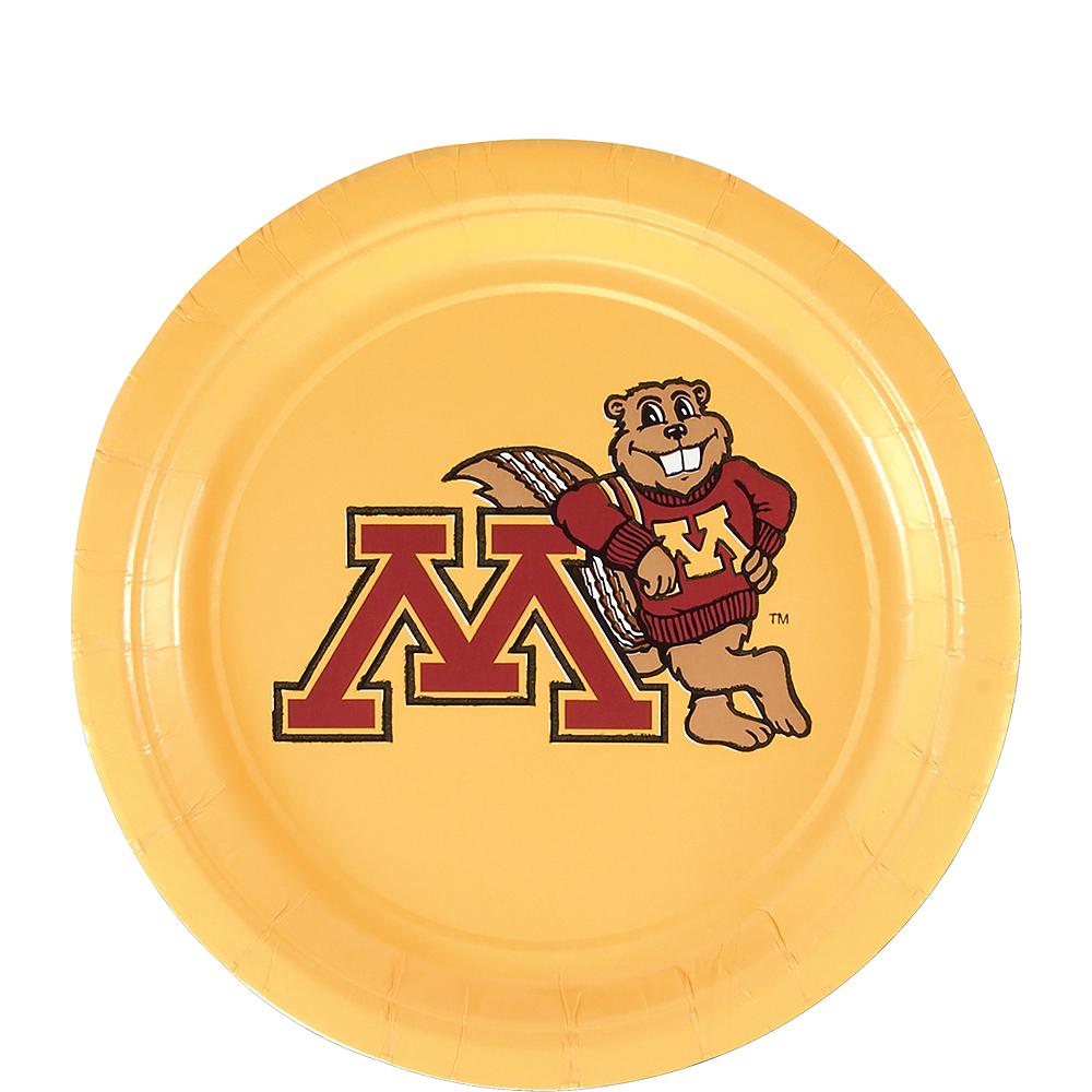 Minnesota Golden Gophers Dessert Plates 12ct Image #1