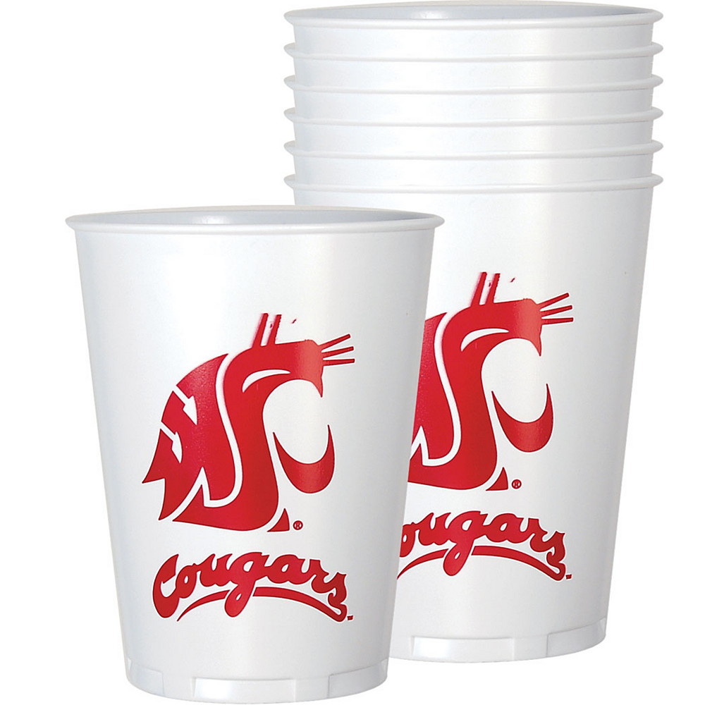 Washington State Cougars Plastic Cups 8ct Image #1