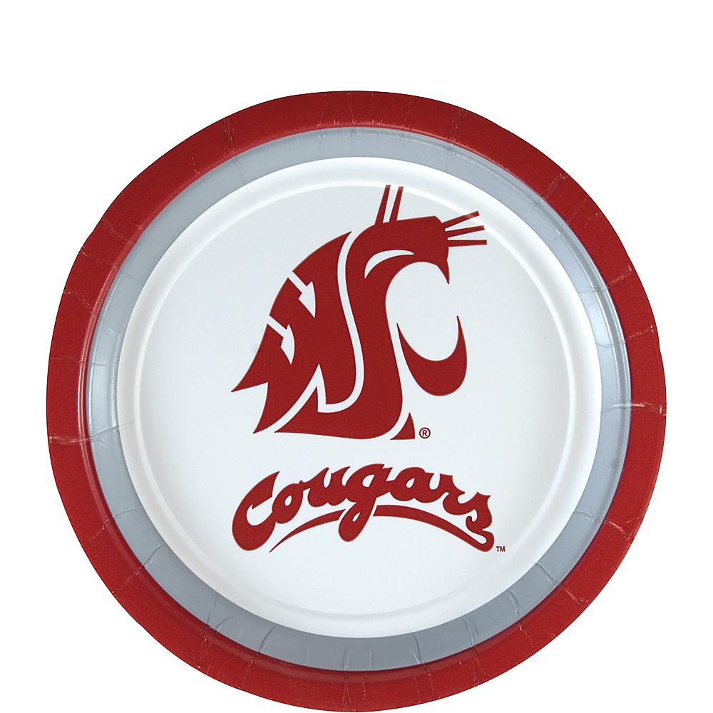 Washington State Cougars Dessert Plates 12ct Image #1