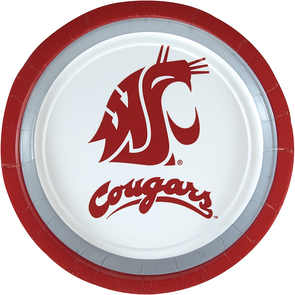 Washington State Cougars Lunch Plates 10ct Image #1