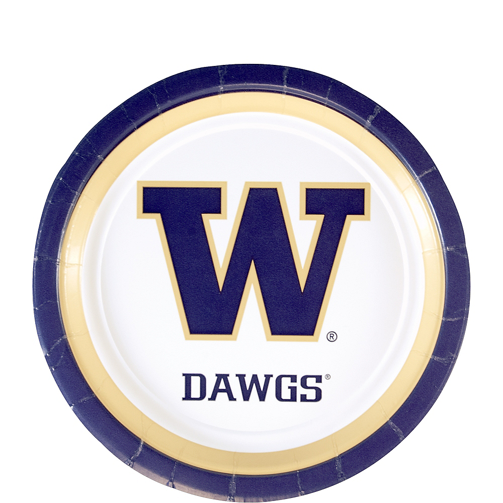 Washington Huskies Dessert Plates 12ct Image #1