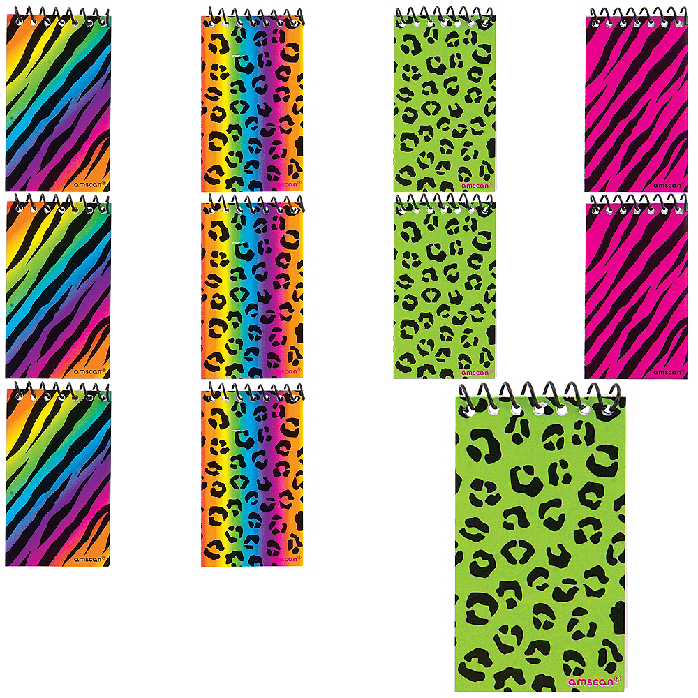 Zebra & Cheetah Notepads 48ct Image #1