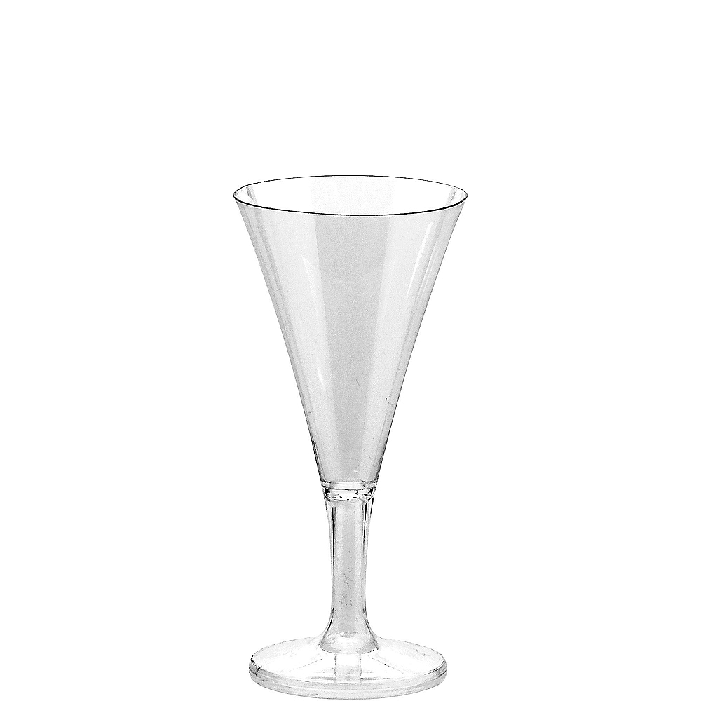 Nav Item for Mini CLEAR Plastic Champagne Flutes 20ct Image #1