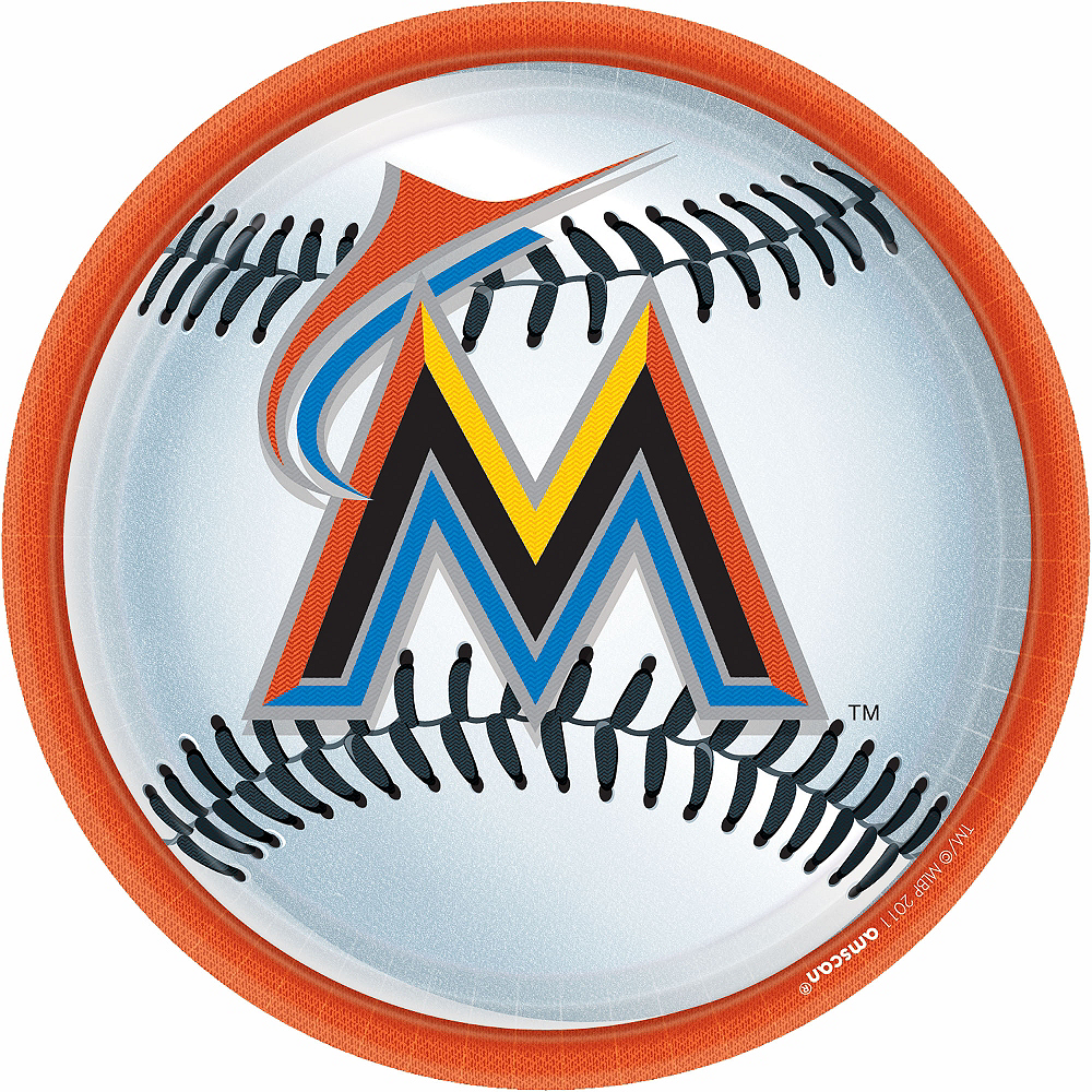 Miami Marlins Lunch Plates 18ct Image #1