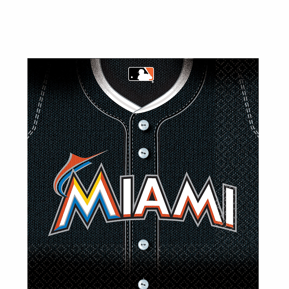 Miami Marlins Lunch Napkins 36ct Image #1