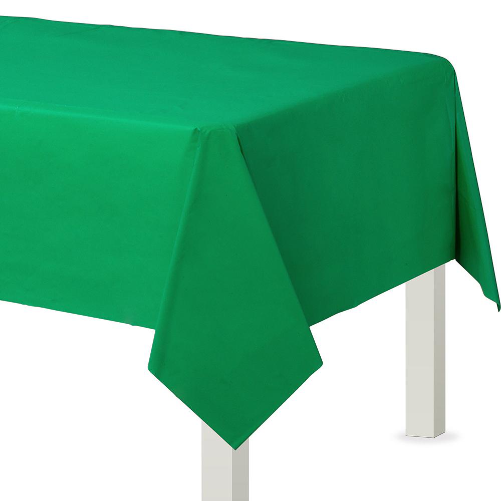 Festive Green Plastic Table Cover Image #1