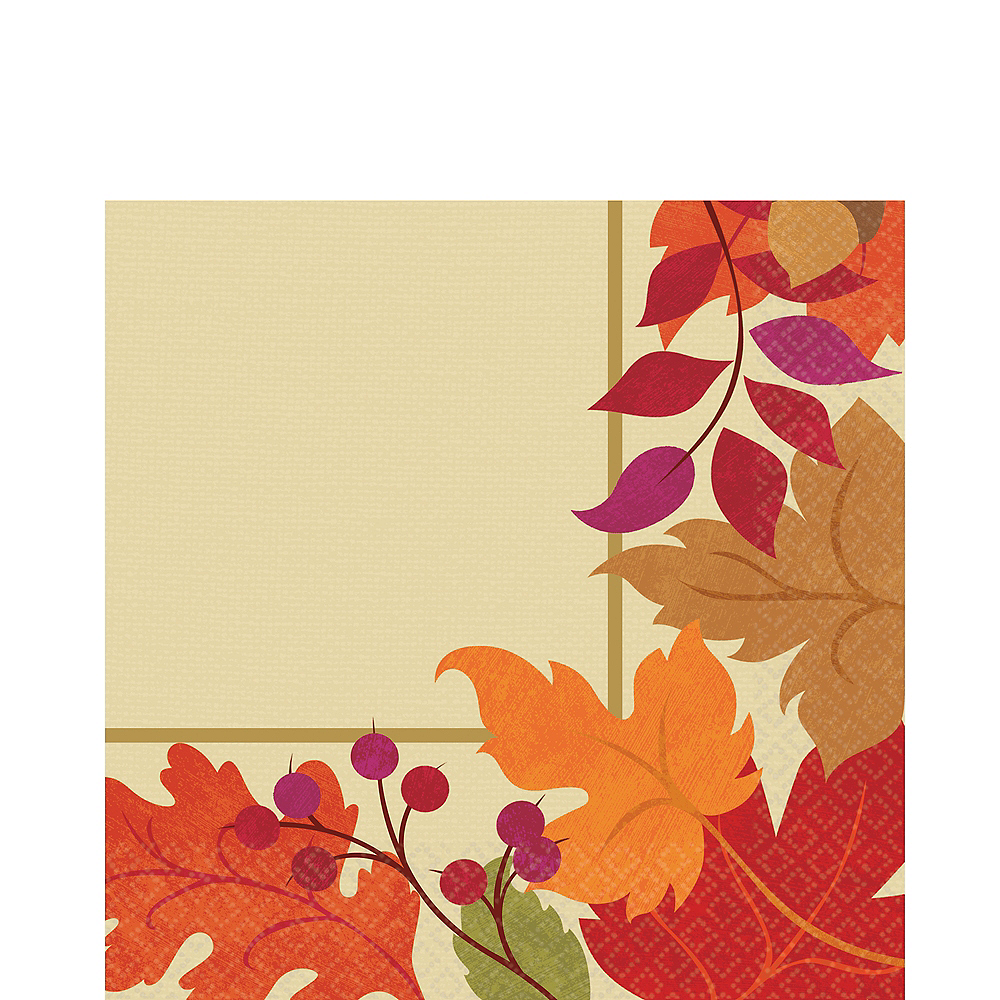 Festive Fall Lunch Napkins 36ct Image #1