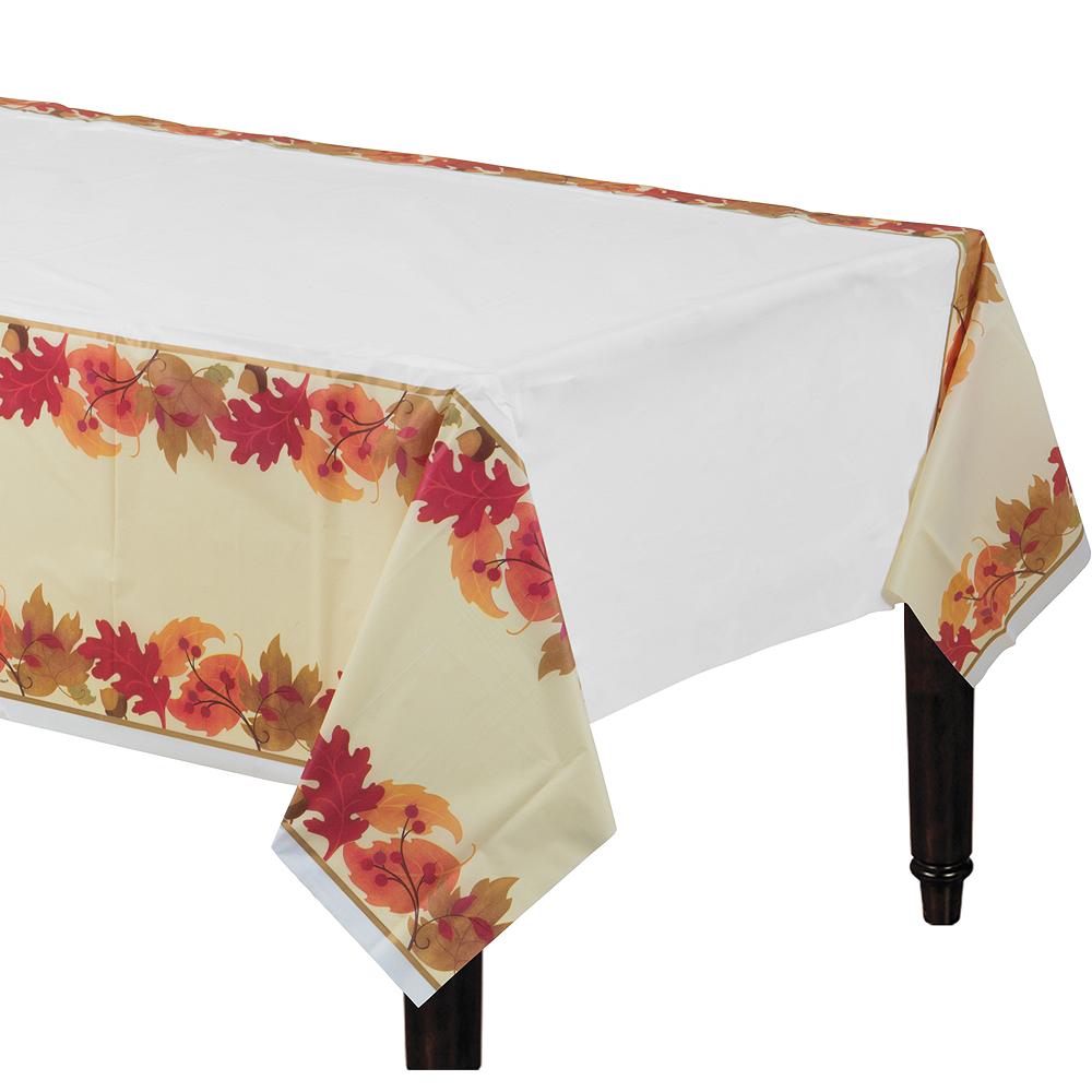 Festive Fall Plastic Table Cover Image #1
