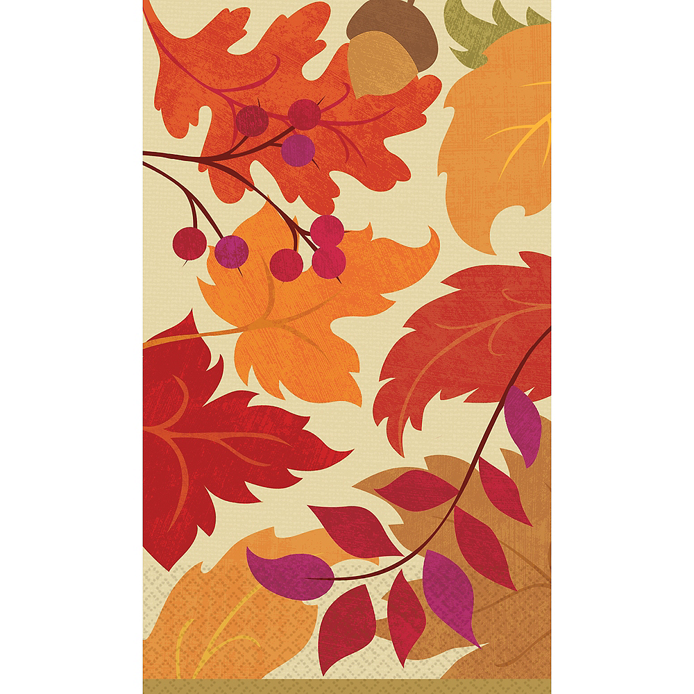 Festive Fall Guest Towels 16ct Image #1