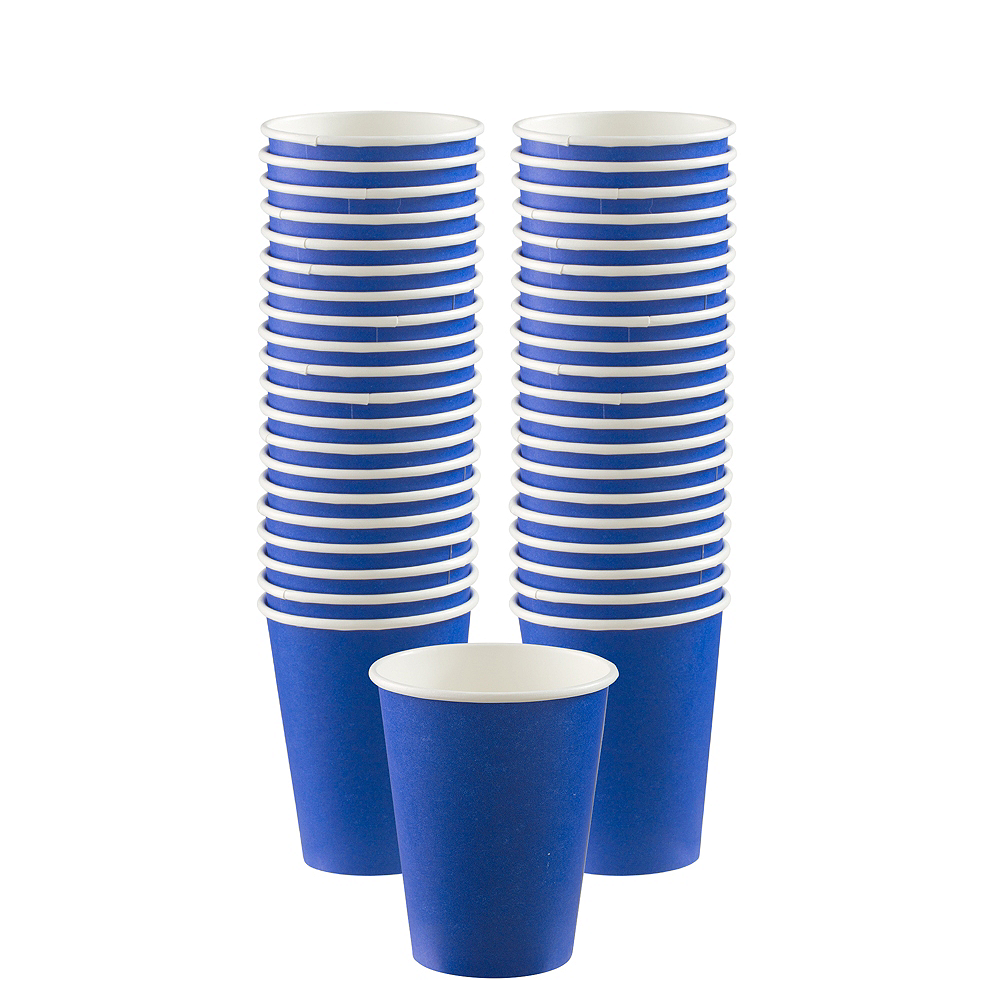 Big Party Pack Royal Blue Paper Coffee Cups 40ct Image #1