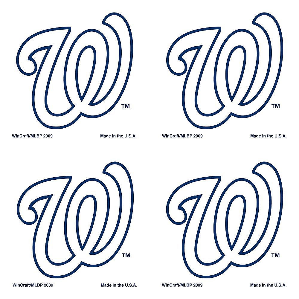 Washington Nationals Face Tattoos 4ct Image #1