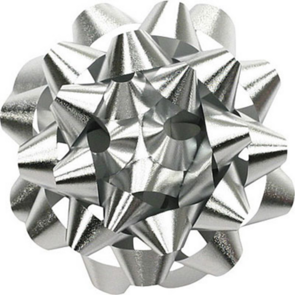 Prismatic Silver Gift Bow Image #1