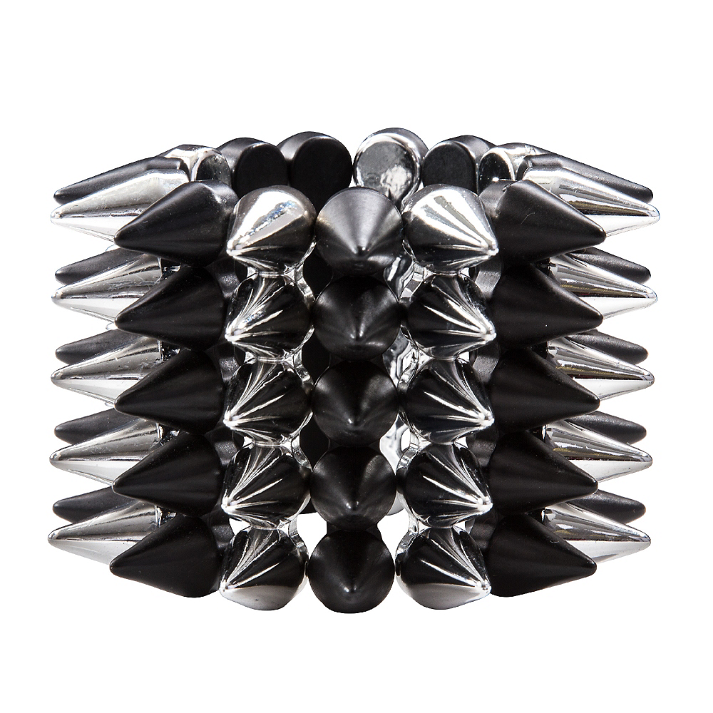 Nav Item for Black & Silver Spike Bracelet Image #1