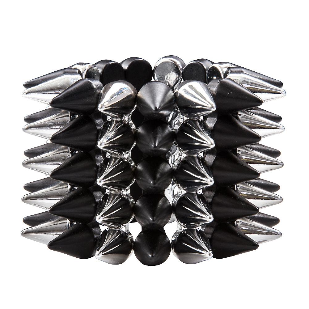 Black & Silver Spike Bracelet Image #1