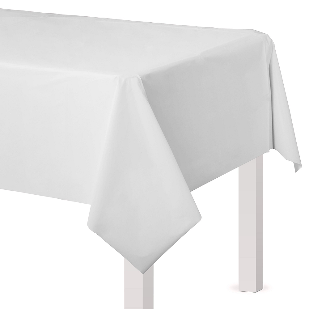 White Plastic Table Cover Image #1