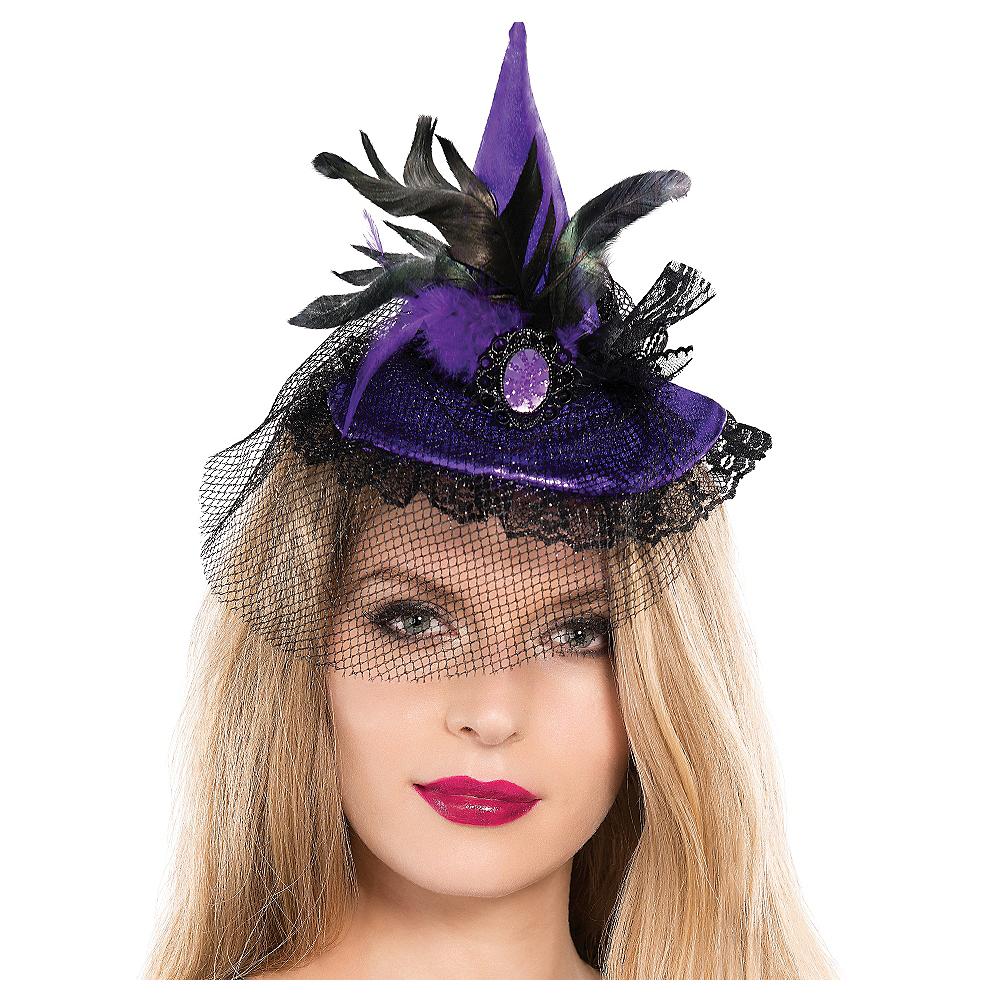 Mini Purple Witch Hat Image #1