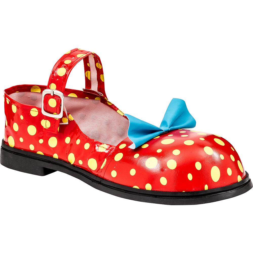 Adult Polka Dot Clown Shoes Image #1