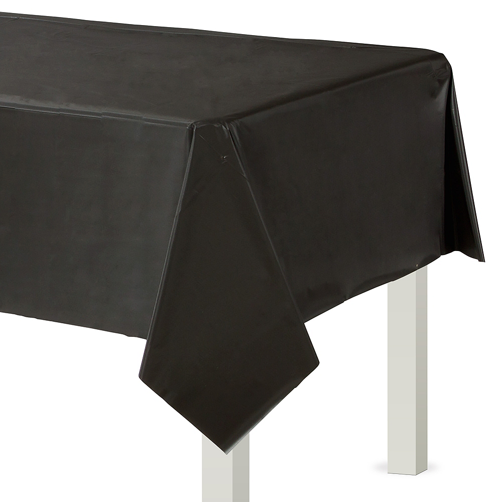 Black Plastic Table Cover 54in X 108in Party City